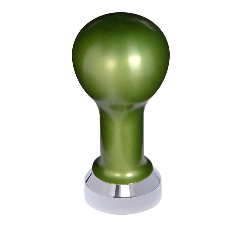 Buna café tamper, kov, zelený, 41 mm, nerez lesk, plochý