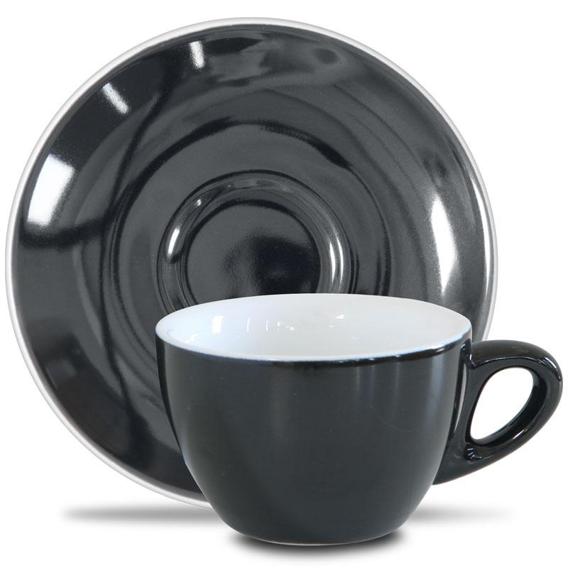 Epic šálek s podšálkem 230 ml, black