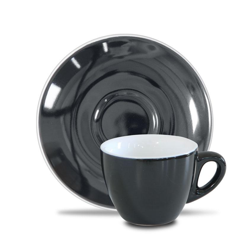 Epic šálek s podšálkem 90 ml, black