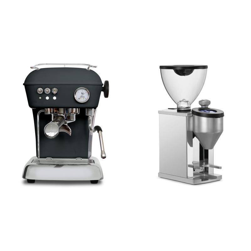 Ascaso Dream ONE, Anthracite + Rocket Espresso FAUSTINO, chrome