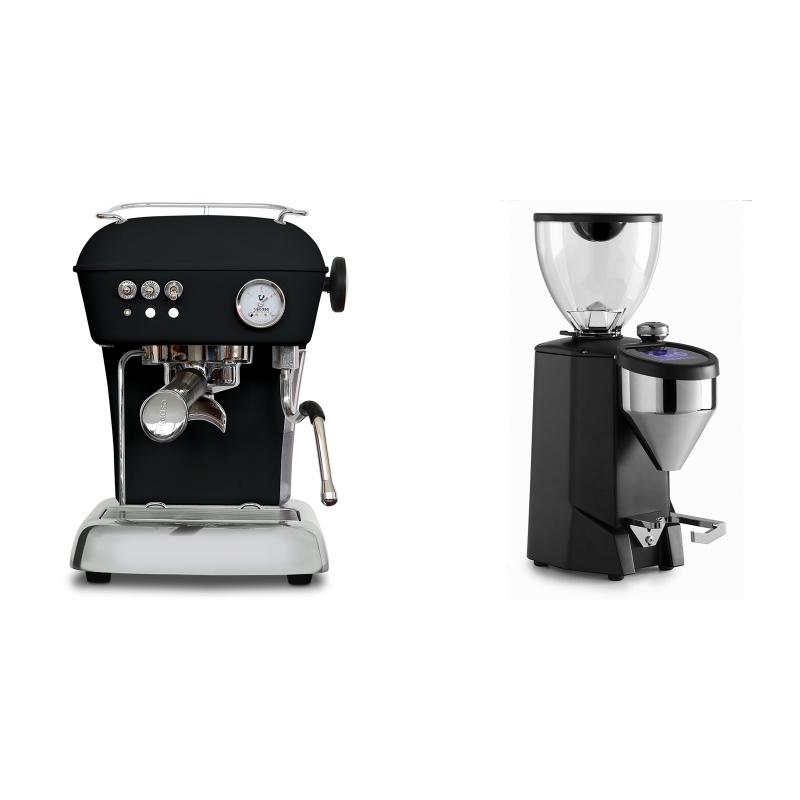 Ascaso Dream ONE, Dark Black + Rocket Espresso FAUSTO 2.1, black
