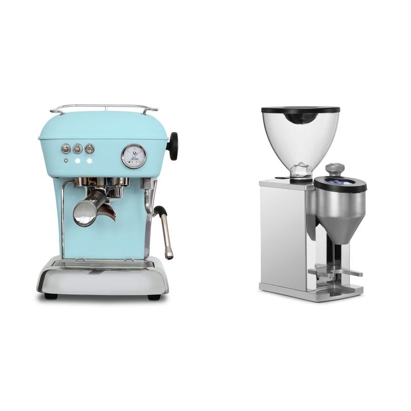 Ascaso Dream ONE, Kid Blue + Rocket Espresso FAUSTINO, chrome