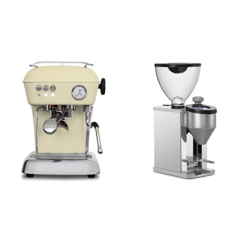 Ascaso Dream ONE, Sweet Cream + Rocket Espresso FAUSTINO, chrome