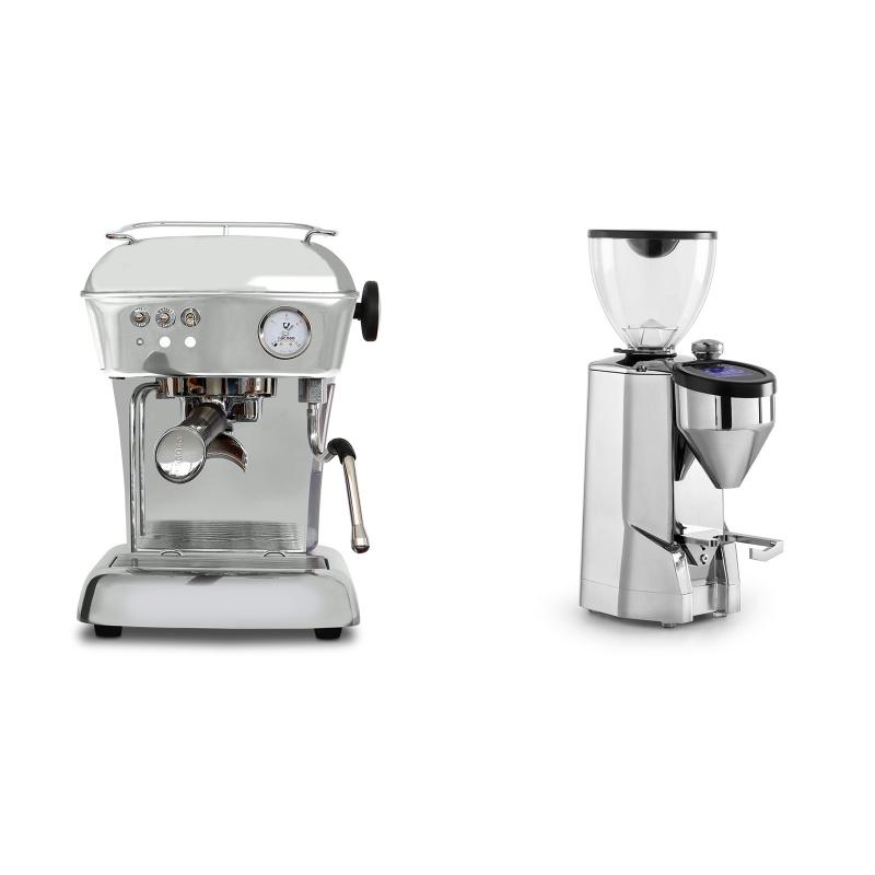 Ascaso Dream ONE, leštěný hliník + Rocket Espresso SUPER FAUSTO, chrome