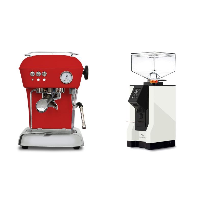 Ascaso Dream ONE, Love Red + Eureka Mignon Perfetto, BL white