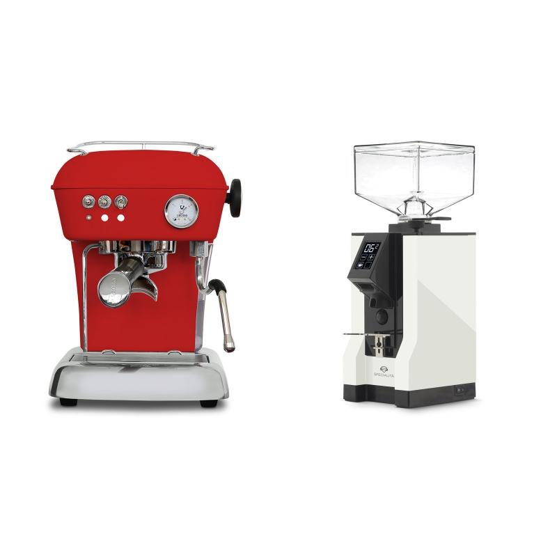 Ascaso Dream ONE, Love Red + Eureka Mignon Specialita, BL white