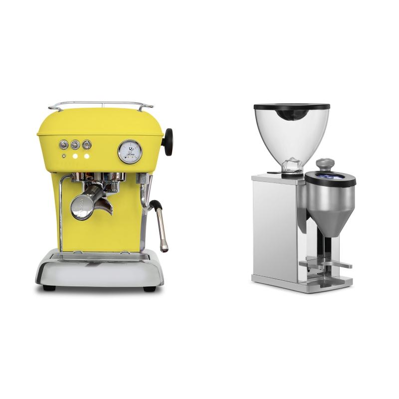 Ascaso Dream ONE, Sun Yellow + Rocket Espresso FAUSTINO, chrome