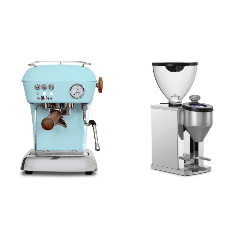 Ascaso Dream PID, Kid Blue + Rocket Espresso FAUSTINO, chrome