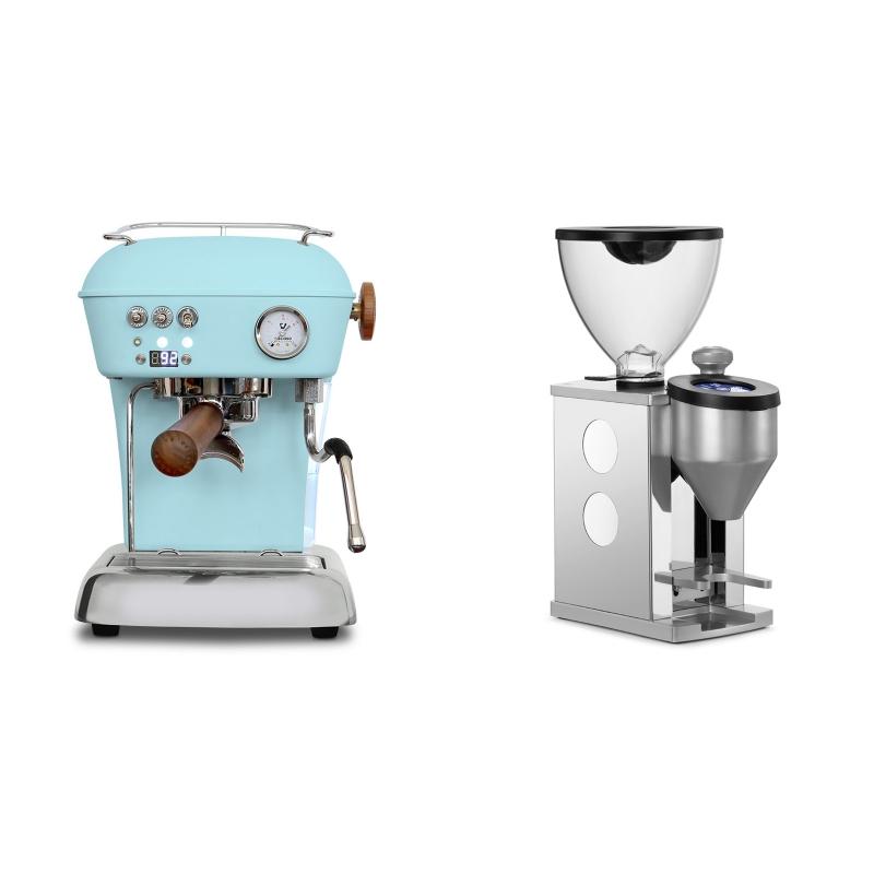 Ascaso Dream PID, Kid Blue + Rocket Espresso FAUSTINO, white