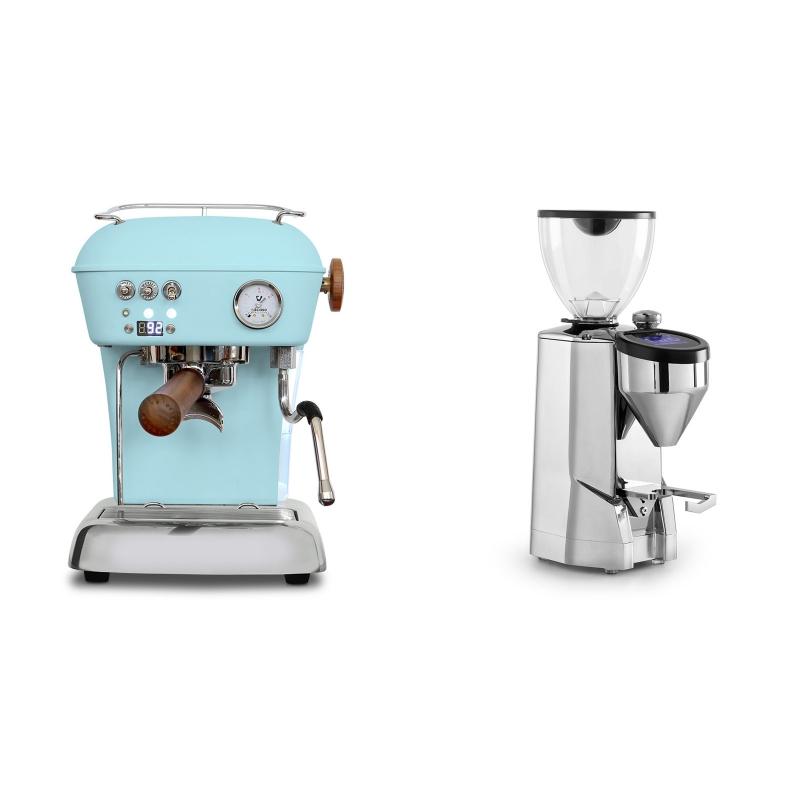 Ascaso Dream PID, Kid Blue + Rocket Espresso SUPER FAUSTO, chrome