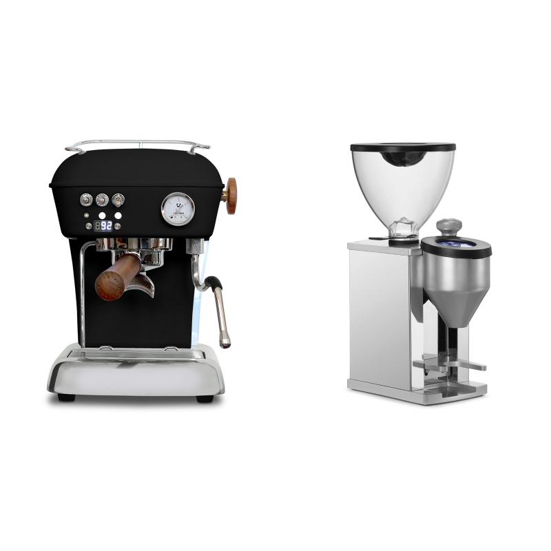 Ascaso Dream PID, Dark Black + Rocket Espresso FAUSTINO, chrome