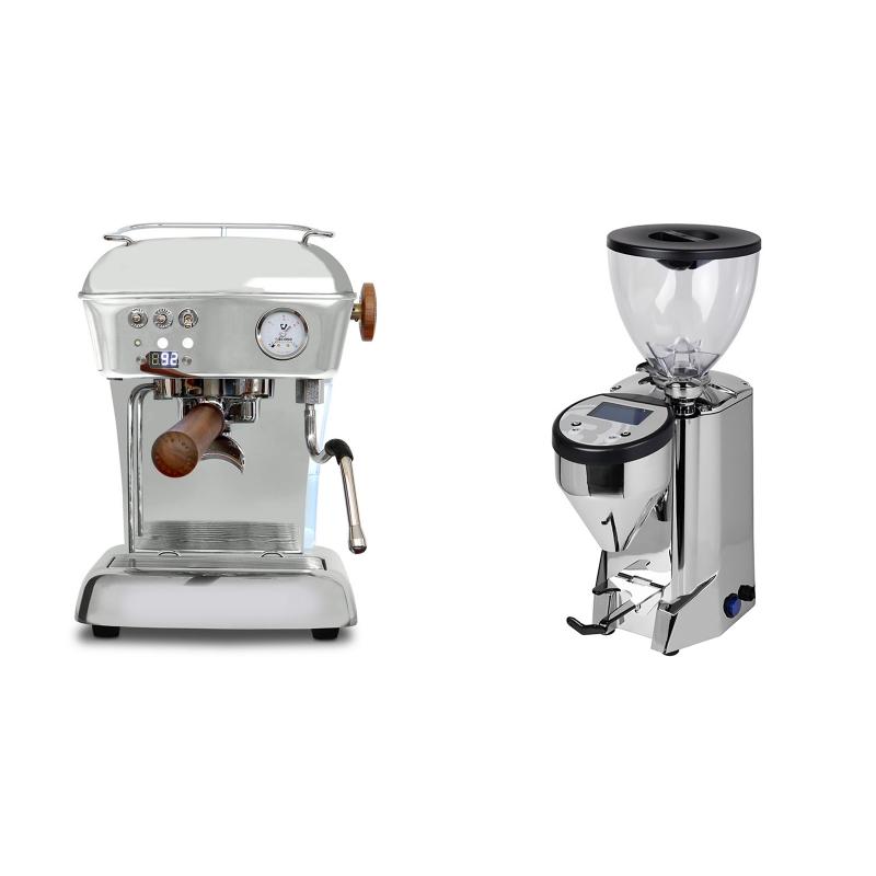 Ascaso Dream PID, leštěný hliník + Rocket Espresso FAUSTO, nerez