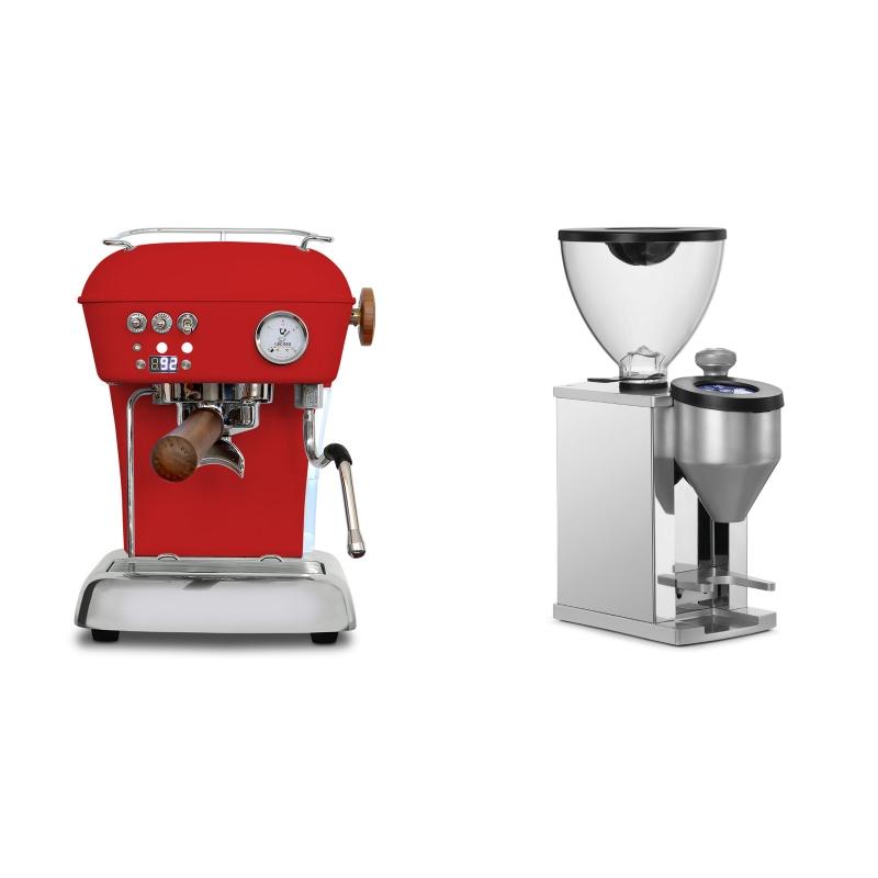 Ascaso Dream PID, Love Red + Rocket Espresso FAUSTINO, chrome