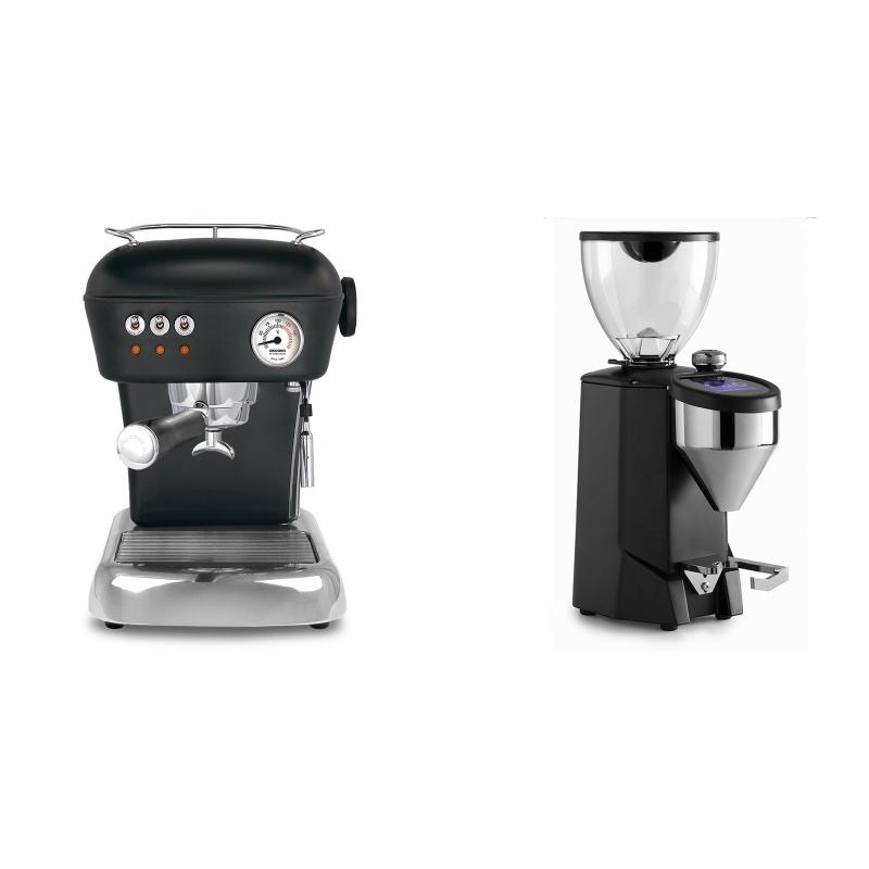 Ascaso Dream ZERO, Dark Black + Rocket Espresso FAUSTO 2.1, black