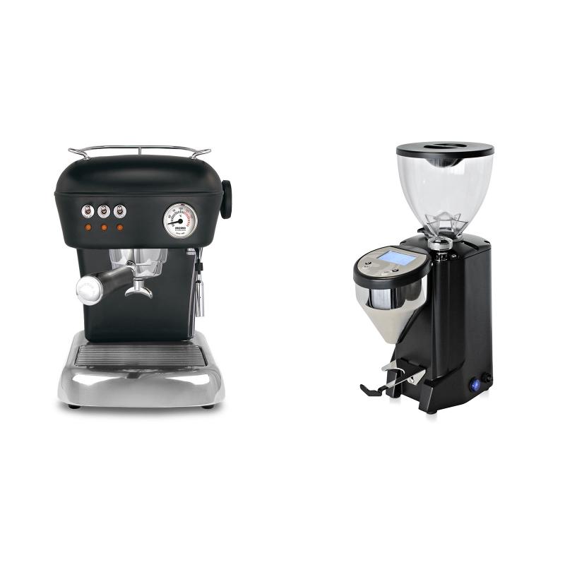 Ascaso Dream ZERO, Dark Black + Rocket Espresso FAUSTO, black