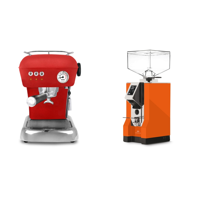 Ascaso Dream ZERO, Love Red + Eureka Mignon Specialita, CR orange