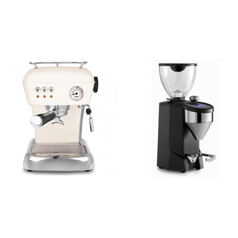 Ascaso Dream ZERO, Sweet Cream + Rocket Espresso FAUSTO 2.1, black