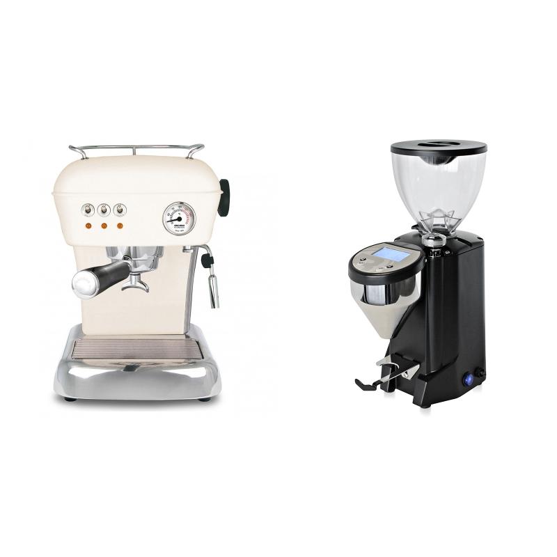 Ascaso Dream ZERO, Sweet Cream + Rocket Espresso FAUSTO, black