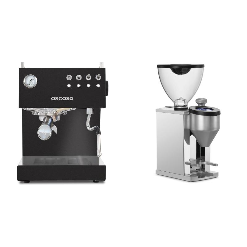 Ascaso Steel UNO, Black + Rocket Espresso FAUSTINO, chrome