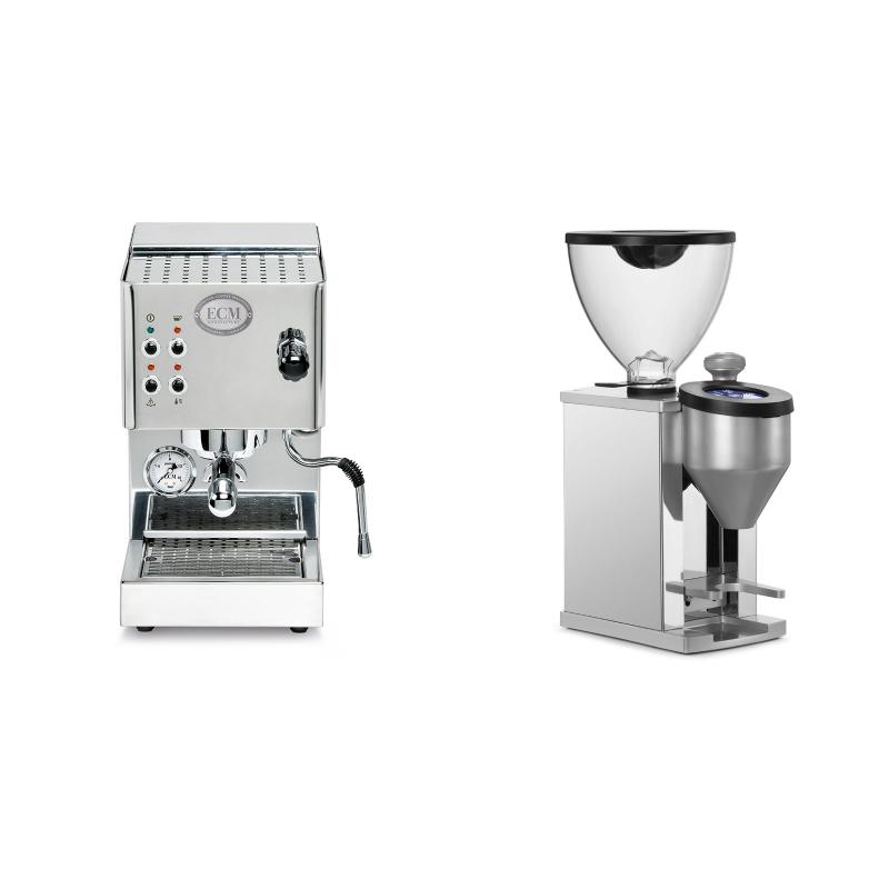 ECM Casa V + Rocket Espresso FAUSTINO, chrome
