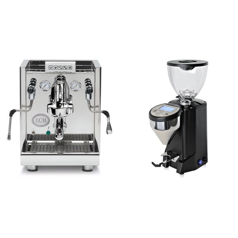 ECM Elektronika II Profi + Rocket Espresso FAUSTO, černý