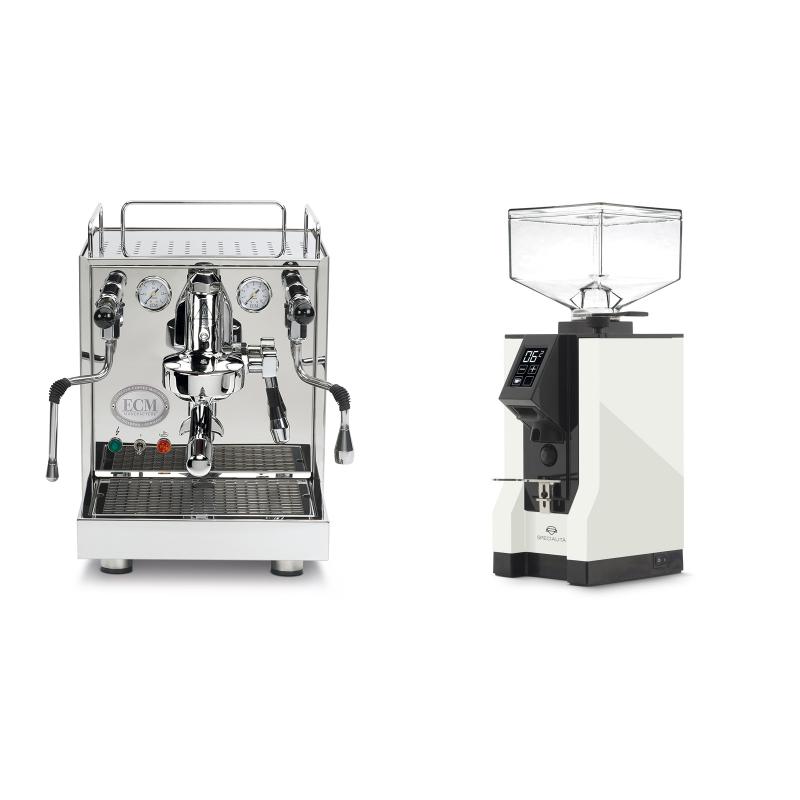 ECM Mechanika IV Profi + Eureka Mignon Specialita, BL white