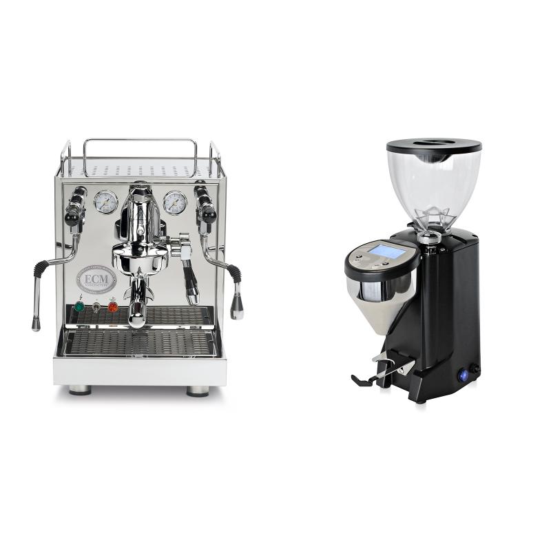ECM Mechanika IV Profi + Rocket Espresso FAUSTO, černý