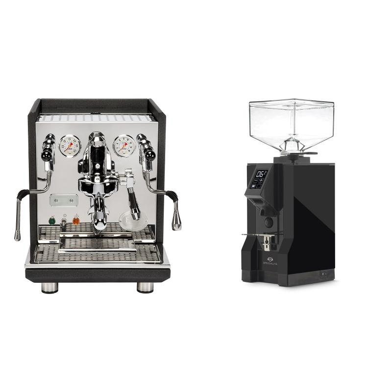 ECM Synchronika, anthracite + Eureka Mignon Specialita, BL black