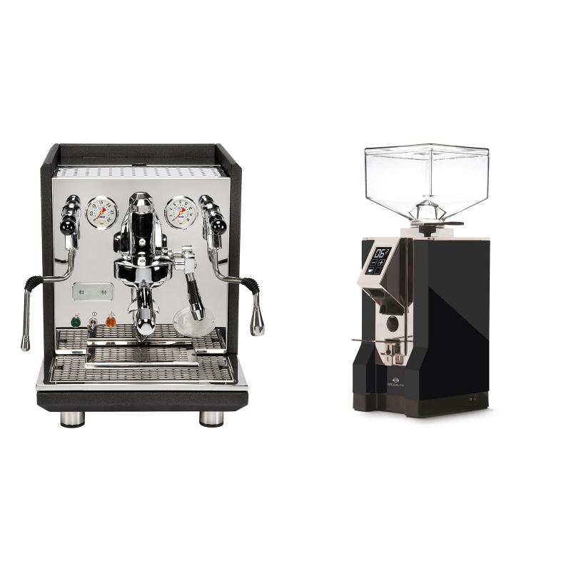 ECM Synchronika, anthracite + Eureka Mignon Specialita, CR black