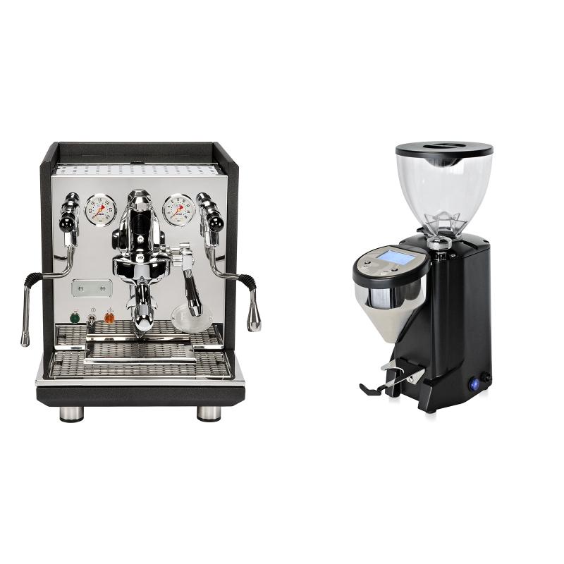 ECM Synchronika, anthracite + Rocket Espresso FAUSTO, černý