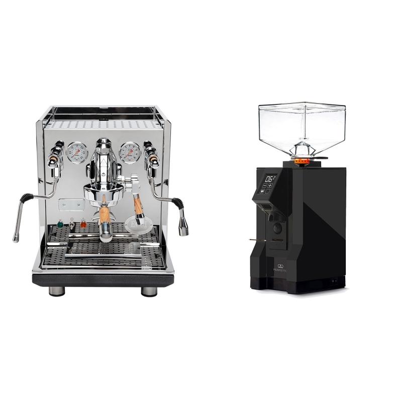 ECM Synchronika, oliva + Eureka Mignon Perfetto, BL black