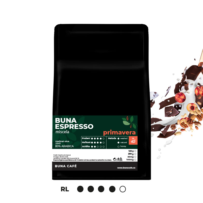 Buna Espresso primavera 80%, 1000g