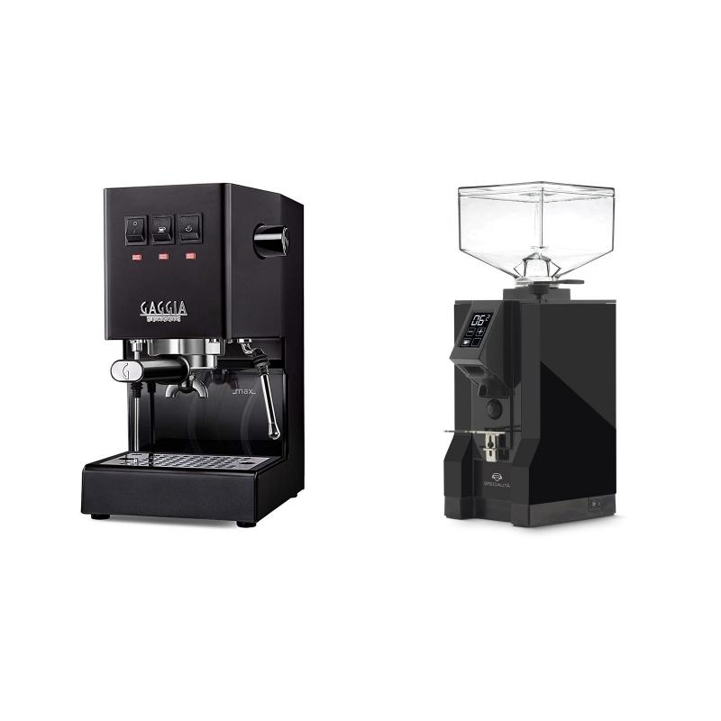 Gaggia New Classic, black + Eureka Mignon Specialita, BL black