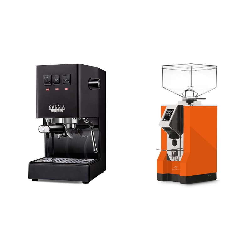 Gaggia New Classic, black + Eureka Mignon Specialita, CR orange