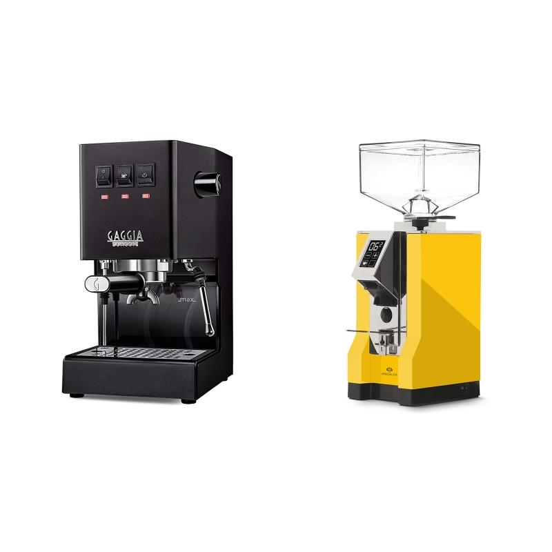 Gaggia New Classic, black + Eureka Mignon Specialita, CR yellow