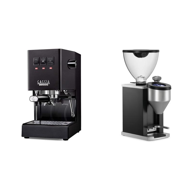 Gaggia New Classic, black + Rocket Espresso FAUSTINO, black