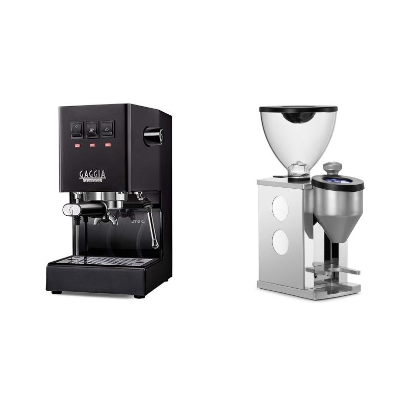 Gaggia New Classic, black + Rocket Espresso FAUSTINO, white