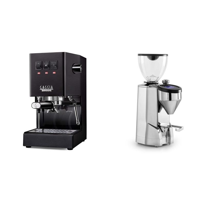 Gaggia New Classic, black + Rocket Espresso SUPER FAUSTO, chrome