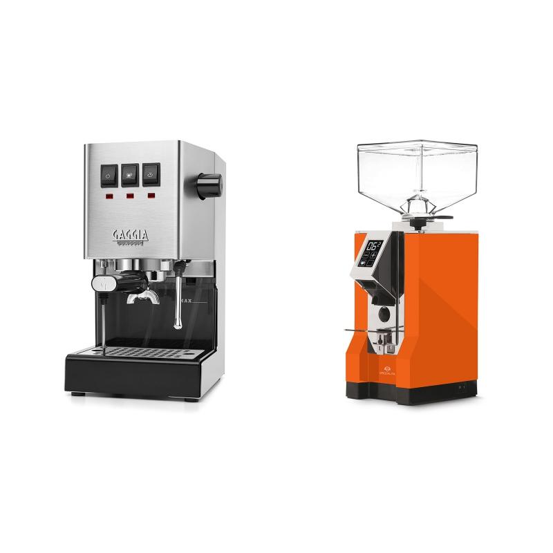 Gaggia New Classic + Eureka Mignon Specialita, CR orange