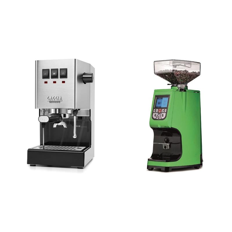 Gaggia New Classic + Eureka Atom 60, kawasaki green