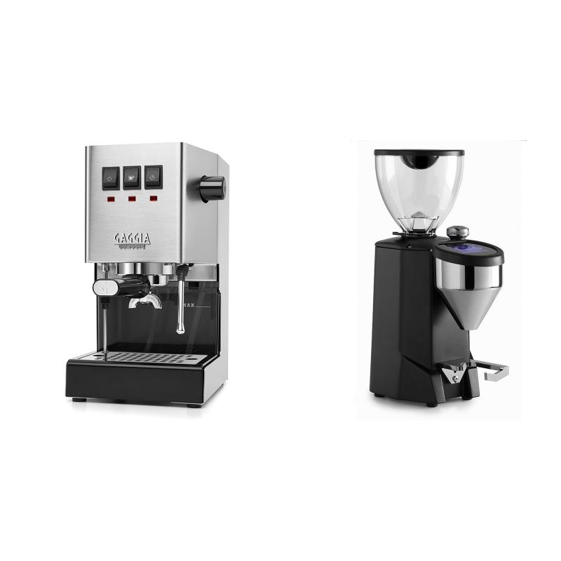 Gaggia New Classic + Rocket Espresso FAUSTO 2.1, black