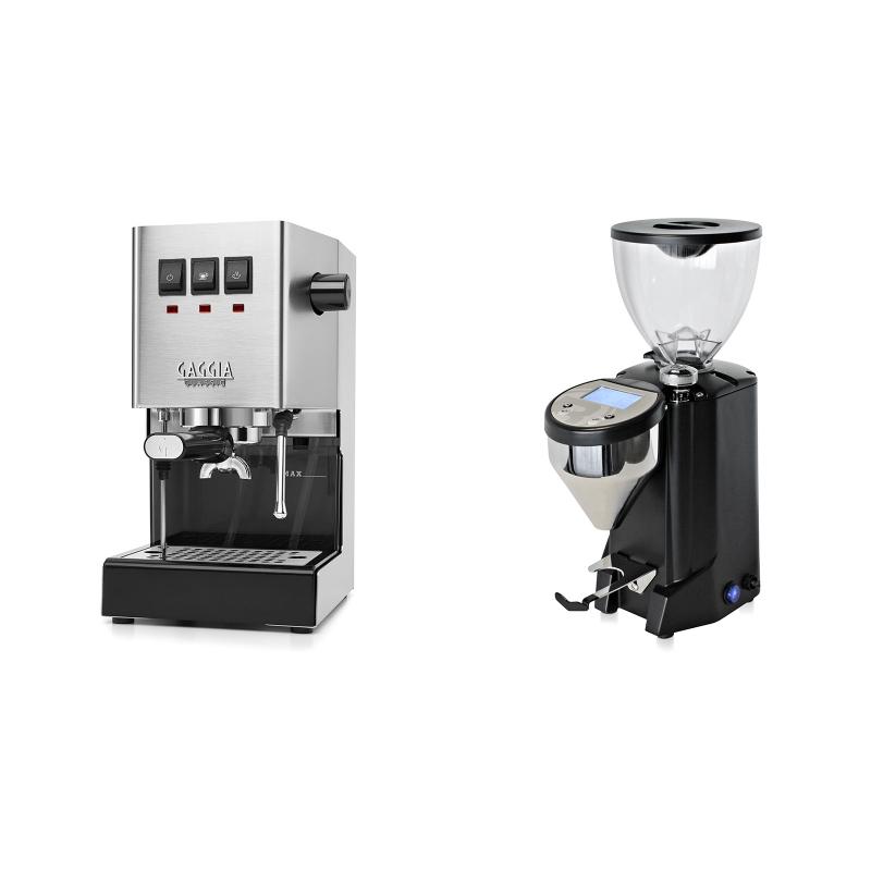 Gaggia New Classic + Rocket Espresso FAUSTO, černý