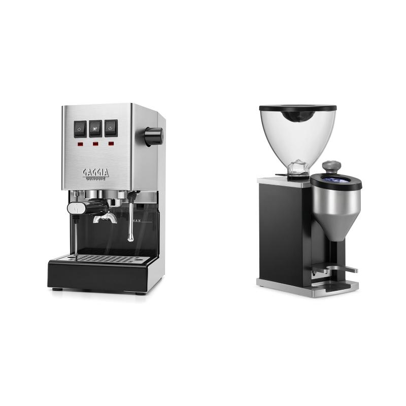 Gaggia New Classic + Rocket Espresso FAUSTINO, black