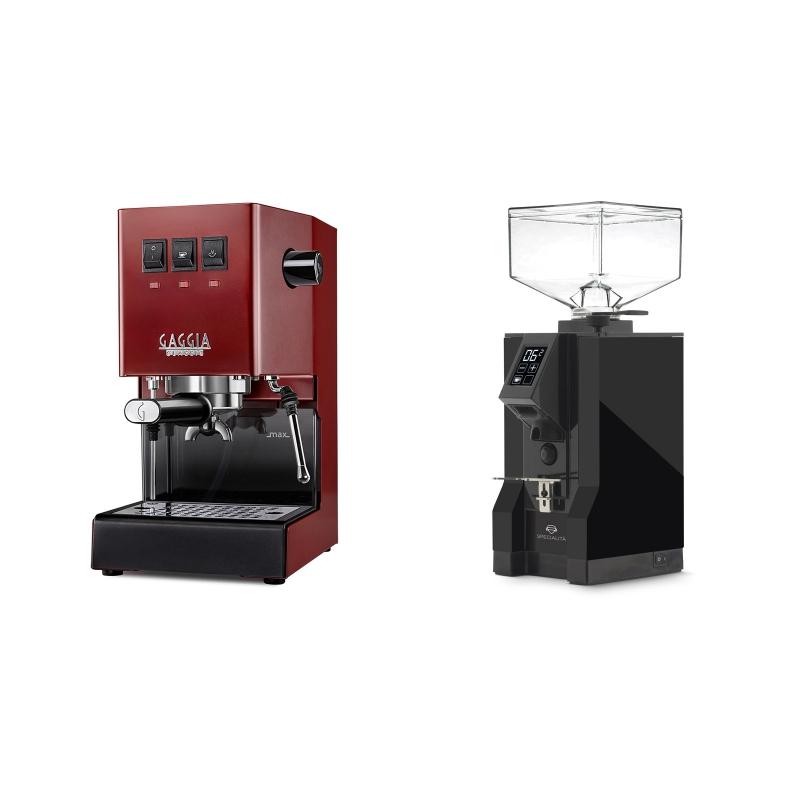 Gaggia New Classic, red + Eureka Mignon Specialita, BL black