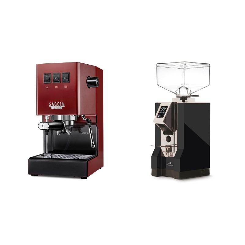 Gaggia New Classic, red + Eureka Mignon Specialita, CR black