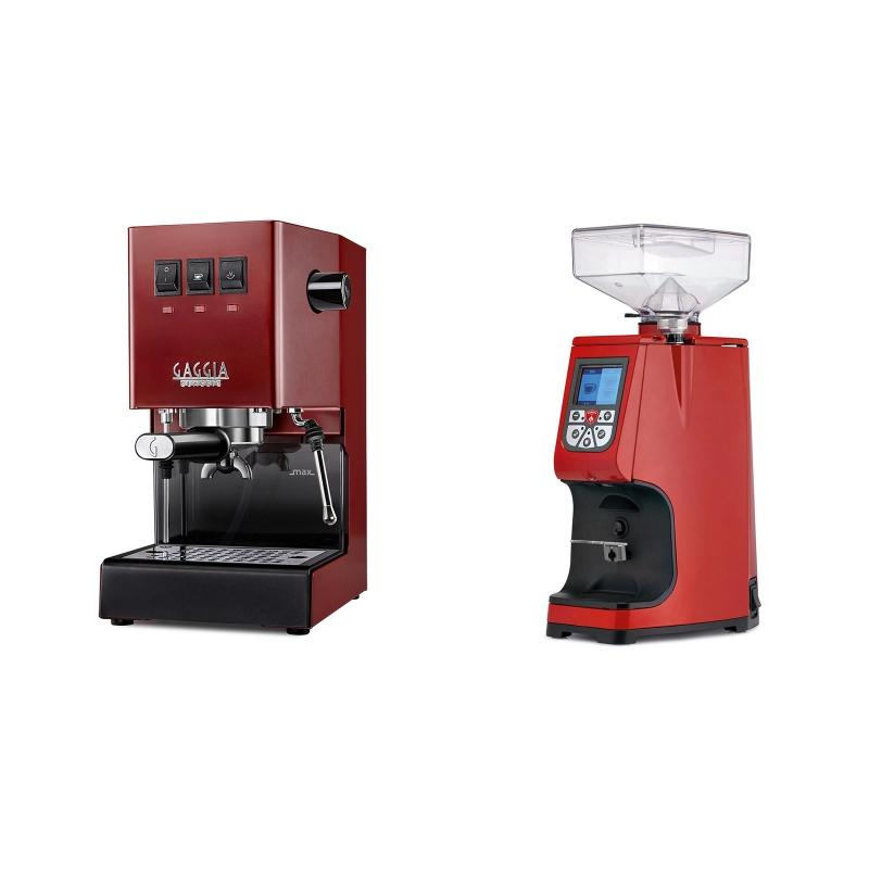Gaggia New Classic, red + Eureka Atom 60, ferrari red