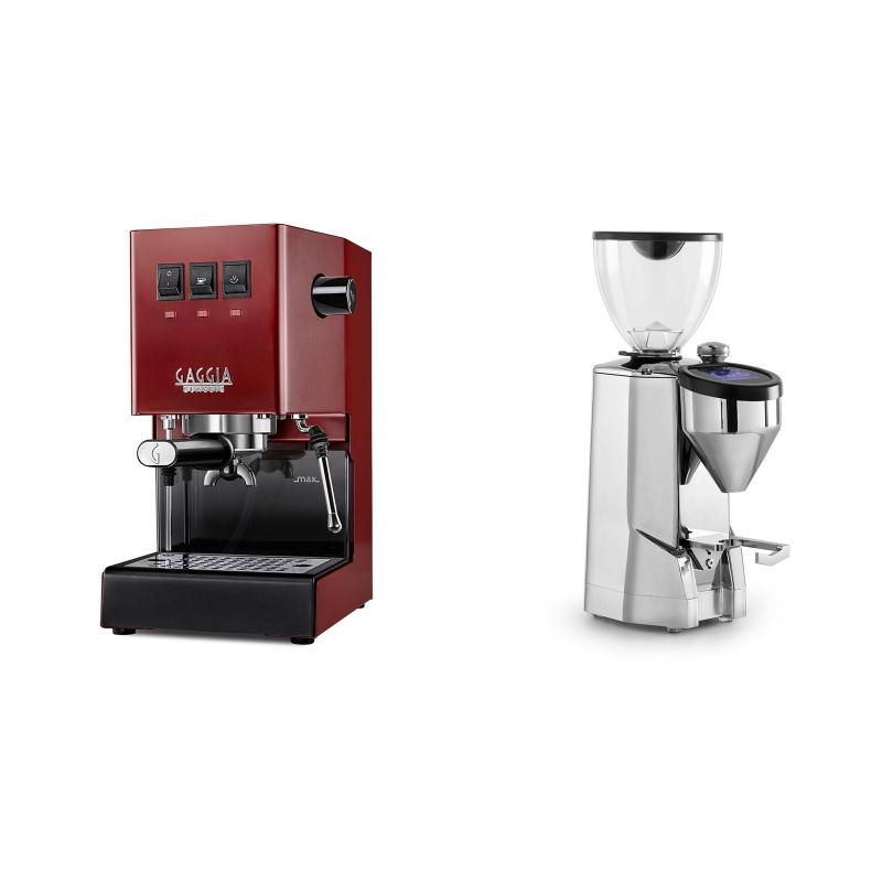 Gaggia New Classic, red + Rocket Espresso SUPER FAUSTO, chrome