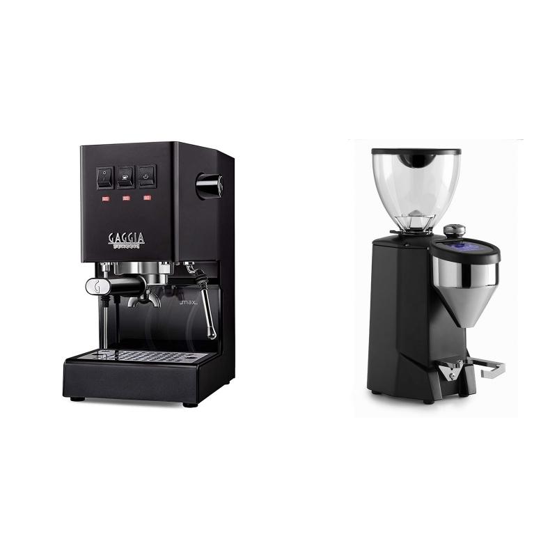 Gaggia New Classic BC, black + Rocket Espresso FAUSTO 2.1, black