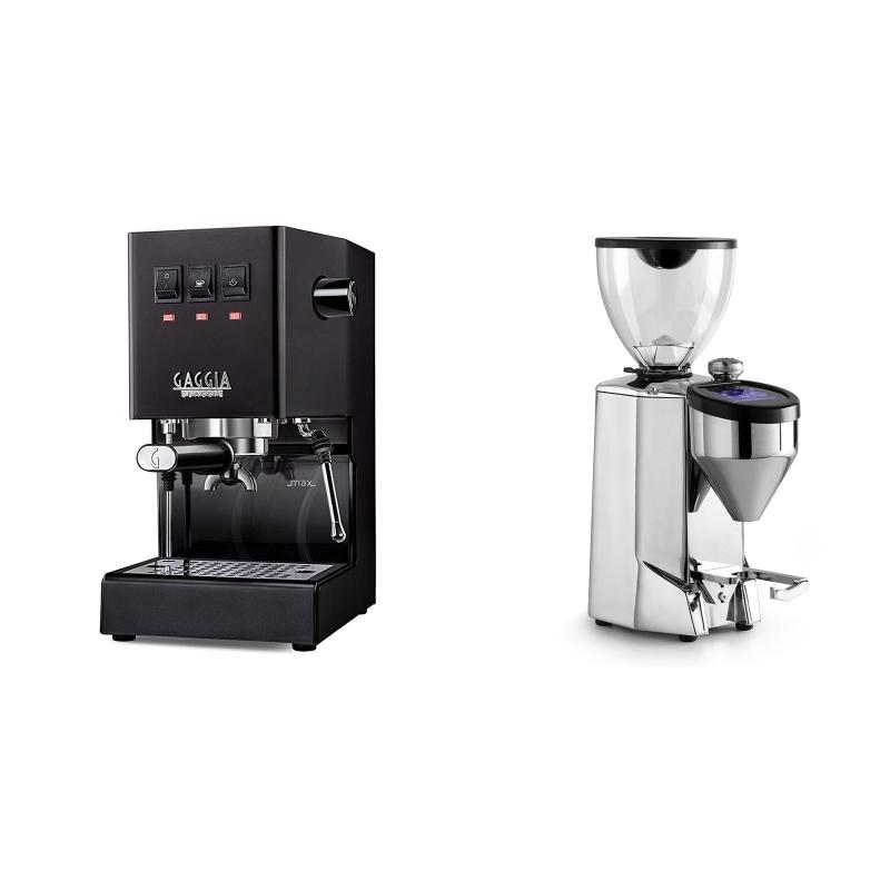 Gaggia New Classic BC, black + Rocket Espresso FAUSTO 2.1, chrome