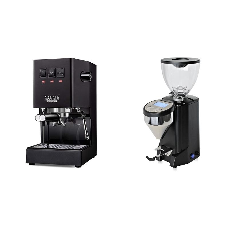 Gaggia New Classic BC, black + Rocket Espresso FAUSTO, black
